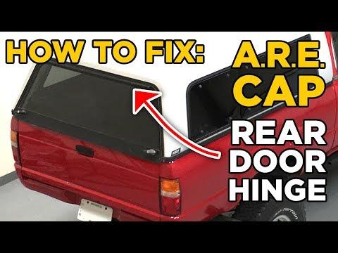Truck Bed Are Cap Topper Rear Door Hinge Repair Fix Cheap Youtube