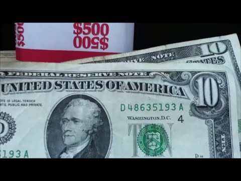 some OLD $10 BILLS searching $500 in ten dollar bills