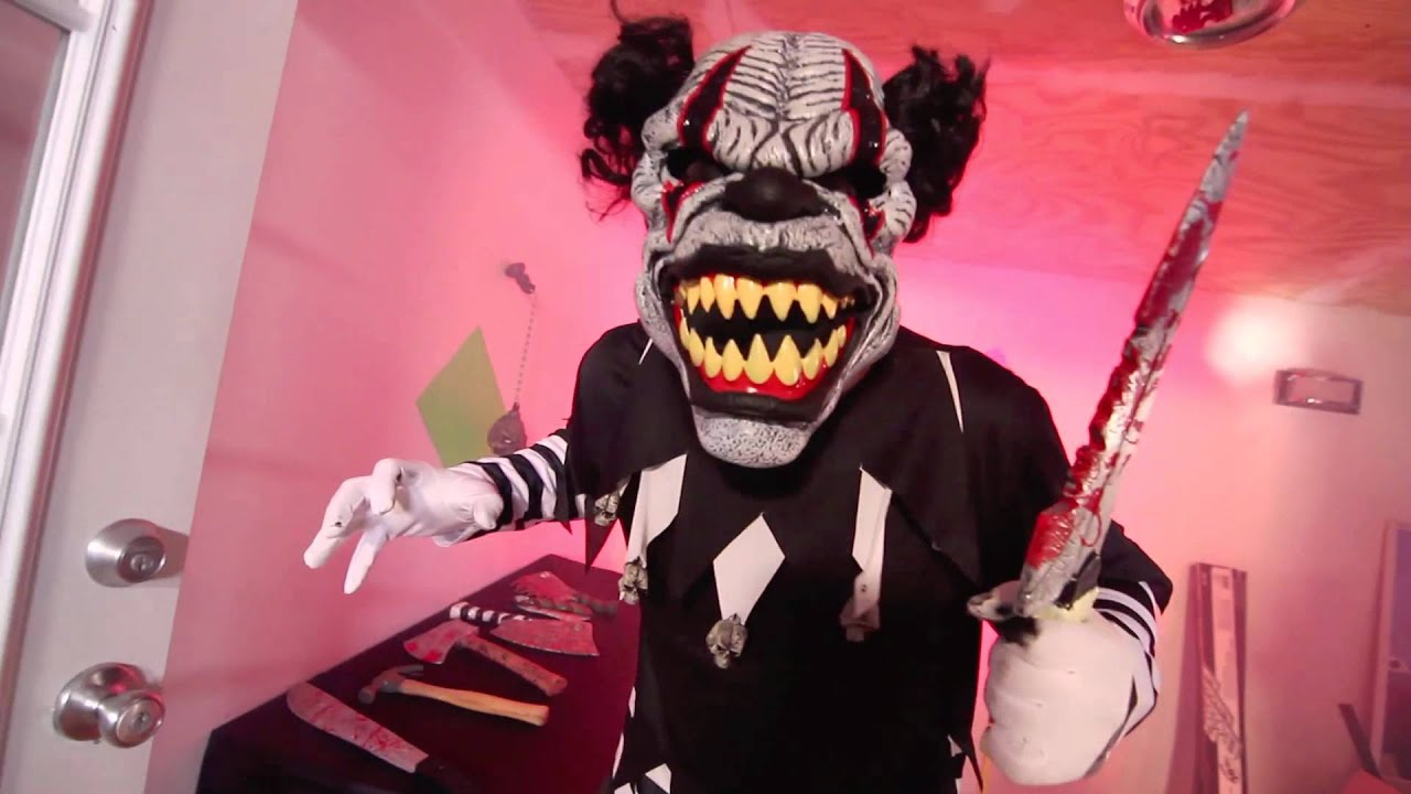 last laugh clown costume with motion mask (01143) - youtube
