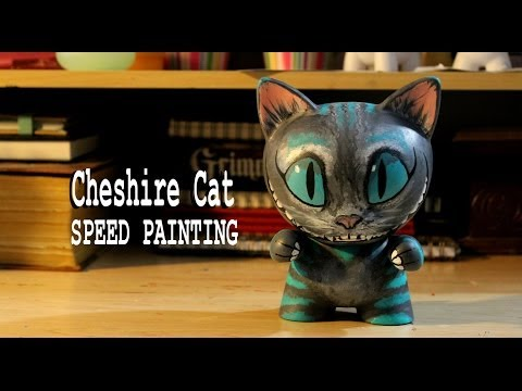 Speed Painting | Alice in Wonderland Cheshire Cat Munny [Tim Burton]