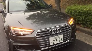New Audi A4 流れるウインカー(マトリクスLEDヘッドライト/LEDリヤコンビネーションライト)