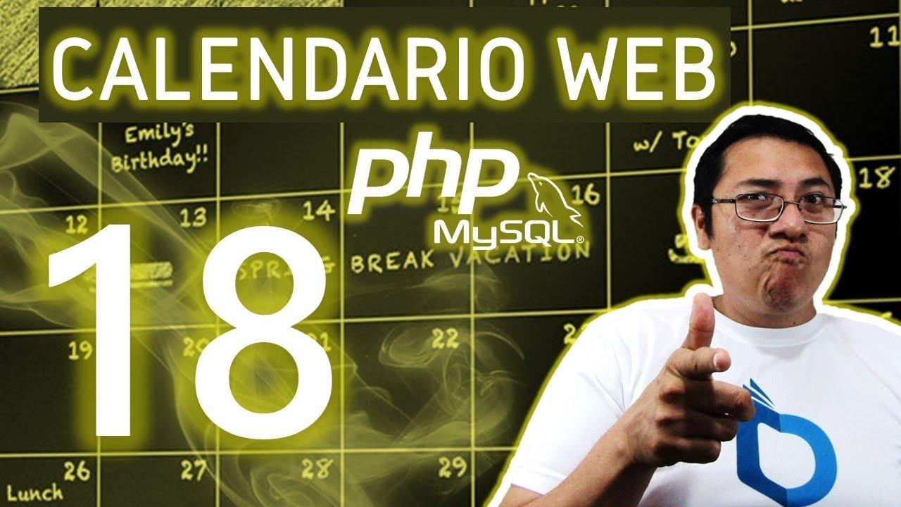 Actualizar Calendario.Calendario Web Con Php Y Mysql Utilizando Fullcalendar Video 18 Actualizar Evento De La Bd