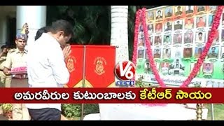 TRS Working President #KTR #PaysTribute To #CRPFJawans | Hyderabad ...