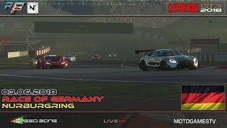 rFactor 2 – IRG GT3 2018 – ROUND 5 – Nurburgring GP of Germany - LIVESTREAM - ENGLISH
