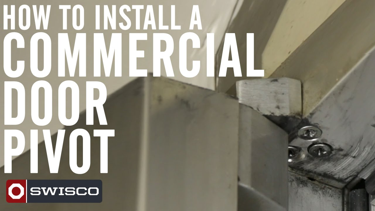 How to Install a Commercial Door Pivot [1080p] - YouTube Commercial Kitchen Double Swing Door on commercial double swing front doors, commercial swing door open right, commercial glass door freezers, commercial door swing through,