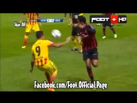 Robinho Amazing rainbow flick AC Milan vs Barcelona 22/10/2013