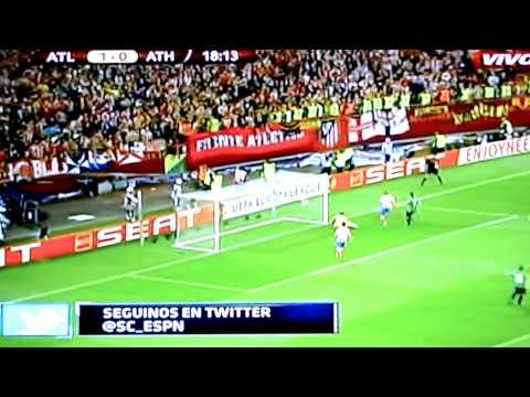 Goals Radamel Falcao, Atlético de Madrid vs. Athletic Bilbao, Europa League Final