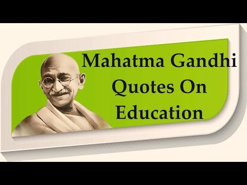 Mahatma Gandhi Quotes On Education À¤… À¤— À¤° À¤œ À¤® À¤®à¤¹ À¤¤ À¤® À¤— À¤§ À¤¶ À¤• À¤· À¤ªà¤° À¤‰à¤¦ À¤§à¤°à¤£ Youtube