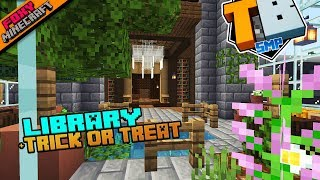 Library + Trick or Treating | Truly Bedrock Season 1 [63] | Minecraft Bedrock Edition SMP