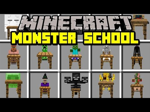 Minecraft MONSTER SCHOOL MOD! | MEET MONSTER SCHOOL CHARACTERS & MORE! | Modded Mini-Game