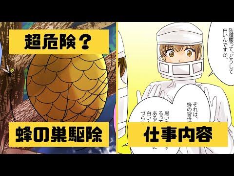 【漫画】スズメバチ駆除のプロになるとどうなるのか?超危険!?【マンガ動画】【アニメ】【アニメ動画】