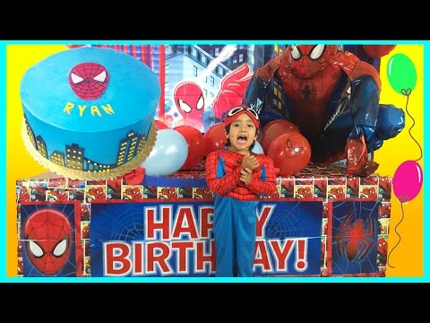 GIANT SURPRISE BOX OPENING Spiderman Power Wheels Ride-On Happy Birthday Toys Cars Egg Surprise