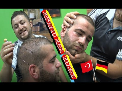 ASMR TURKISH BARBER MASSAGE💈NECK , EAR CRACK 💈 olive oil,wire,head,ear,face,back,arm,sleep massage