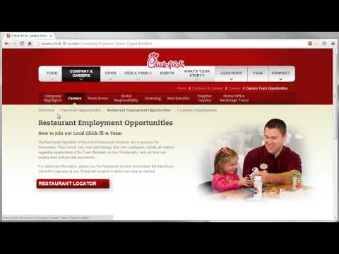 Chick-fil-A Application Online Video
