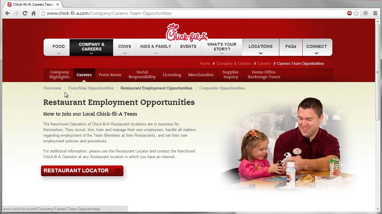 Chick Fil A Application Online Video Youtube