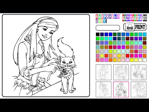 Barbie Coloring Games Online Free YouTube