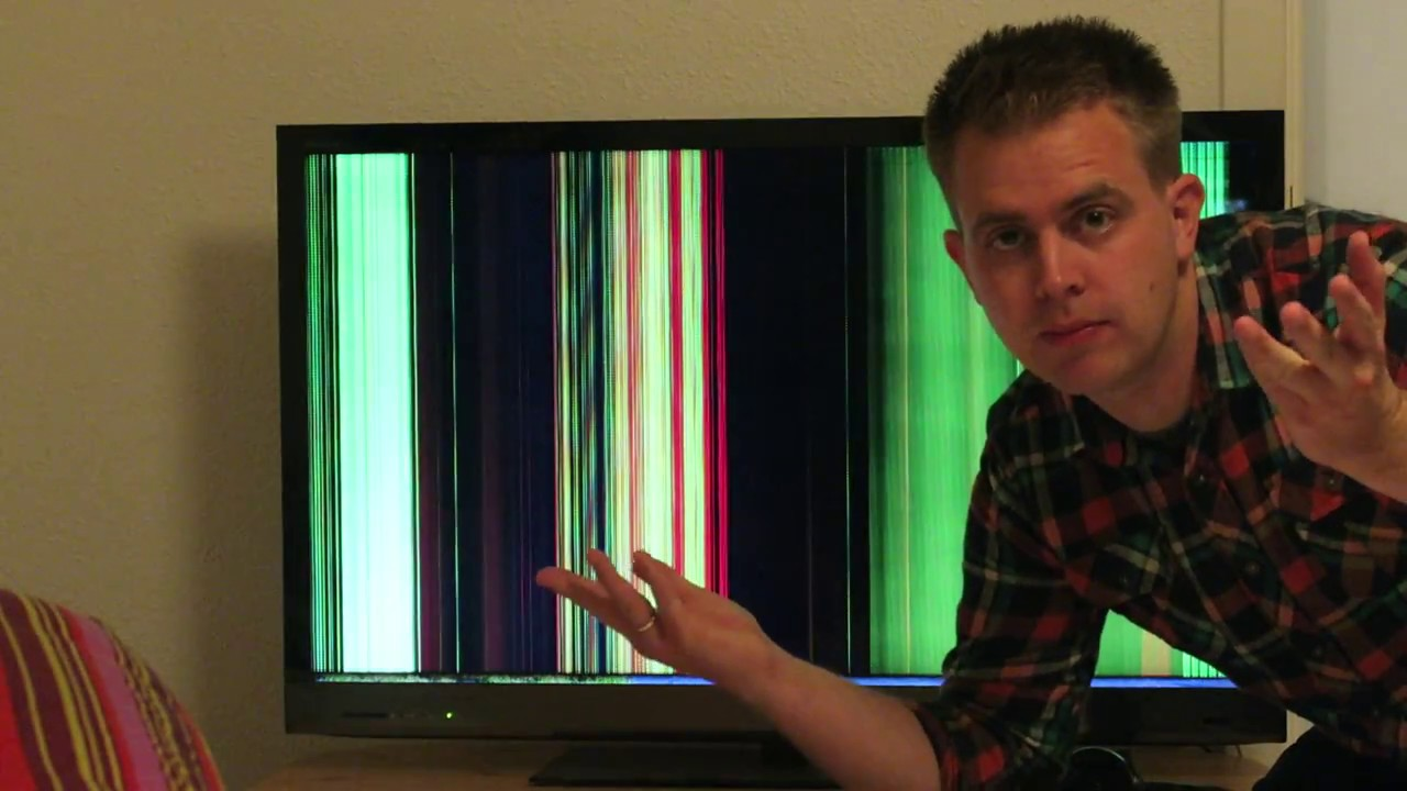Flat Screen Repair >> SONY KDL... vertical lines problem and temporary solution - YouTube