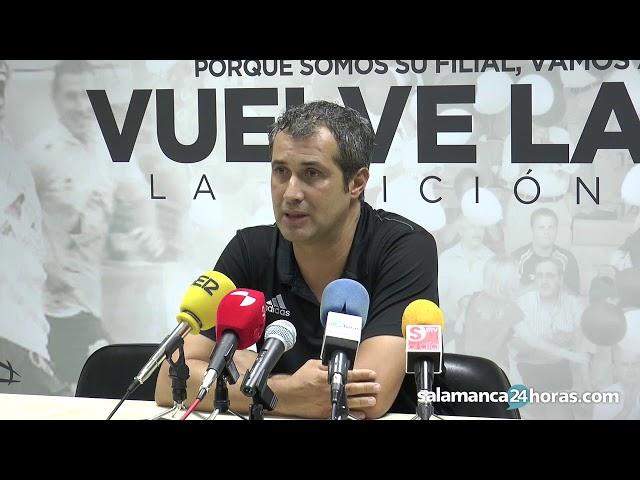 Rueda de prensa tras el Salmantino - Almazán