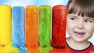 DIY Делаем Цветную воду! Видео для Детей Опыты и научные Эксперименты учим цвета