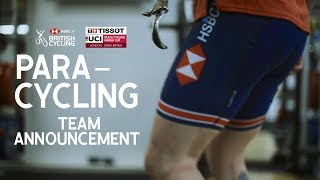 Great Britain Cycling Team Para-Cycling Announcement   Track World Cup London