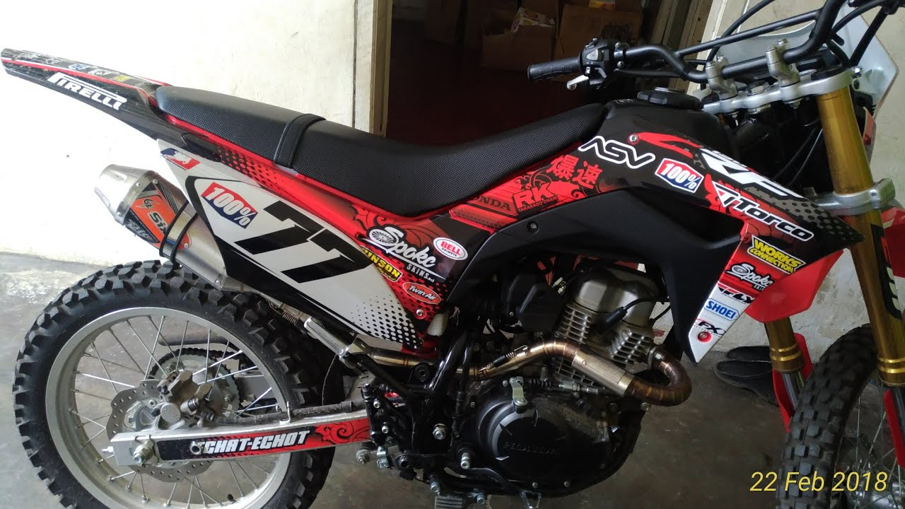 MODIFIKASI CRF 150 STICKER DECAL YouTube