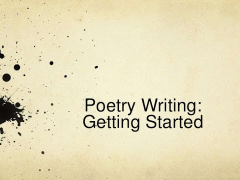 How To Write A Poem For Beginners Video Youtube