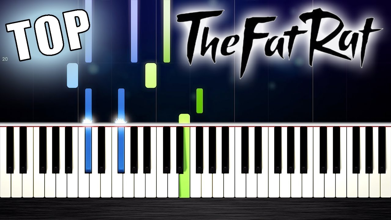 TheFatRat's TOP Songs - EASY Piano Tutorials by PlutaX