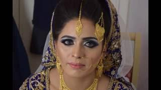 Asian bridal makeup/ real walima bride | smokey eyes