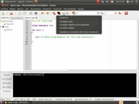 programacion en linux (c/c++) un ide sencillo (geany)
