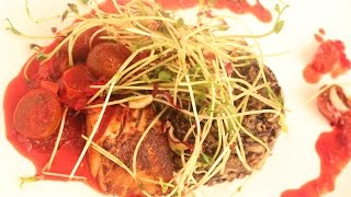 Pan Roasted Cod With Wild Rice- Seafood Recipe