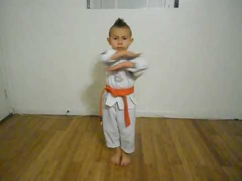 Taegeuk 2/ Taegeuk EE Jang/ orange belt poomsae/ 6yr old