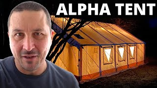 Winter Camping In An Alpha Tent