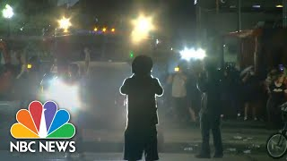 Protesters Clash With Police In Kenosha For Third Night   NBC News NOW
