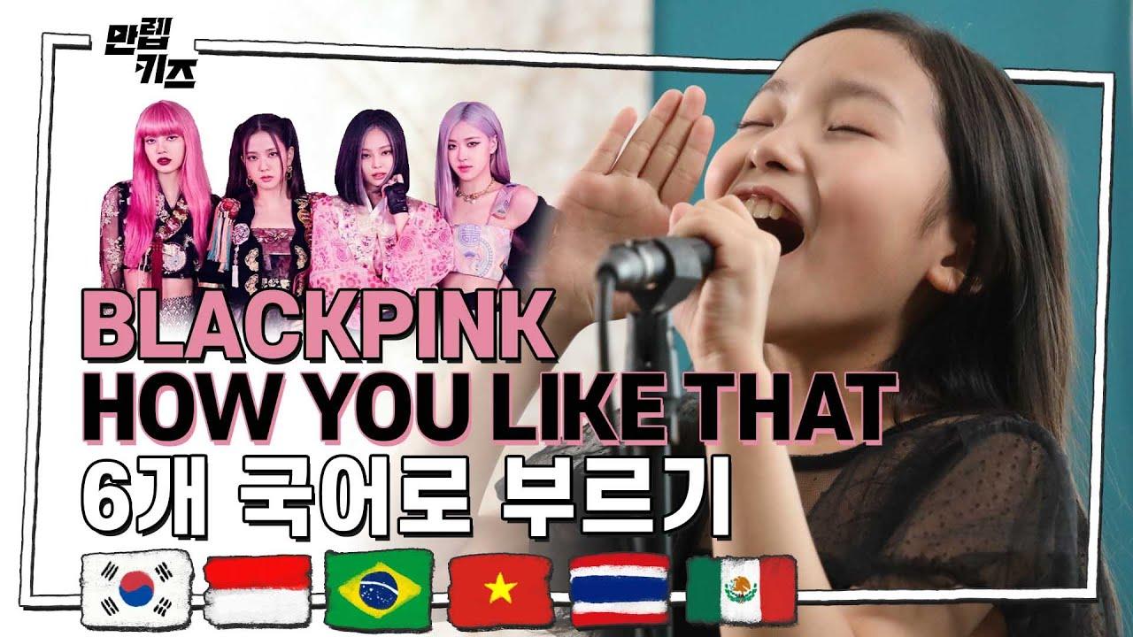 블랙핑크 노래를 6개국어로 부른다면? l BLACKPINK - 'HOW YOU LIKE THAT' 6개국어 VER.도전! l KPOP l 만렙키즈 MAX LV.KIDS