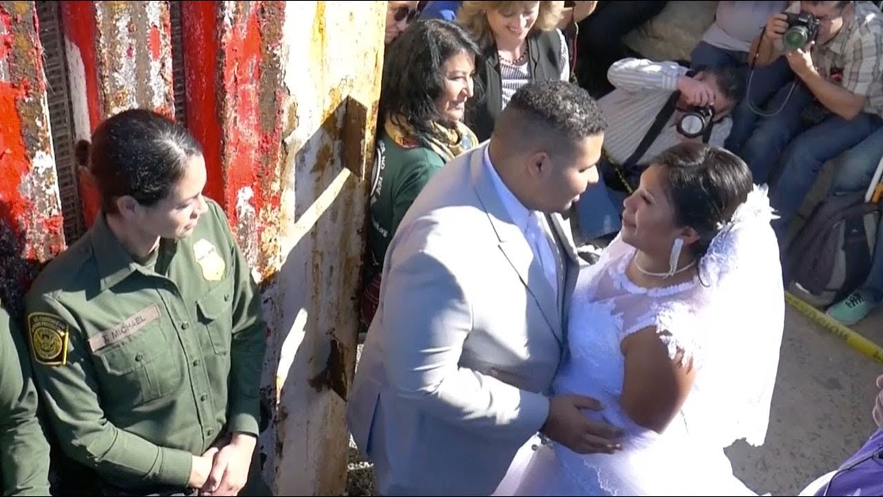 Cross-Border Wedding Held As California 'Door of Hope' Opens - YouTube
