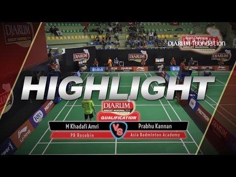 Muhammad Khadafi Amri (PB Rosobin) VS Prabhu Kannan (Asia Badminton Academy)