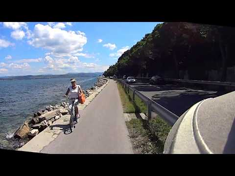 Izola (Slovenia) to Koper with bicycle - this time not the common video ;)