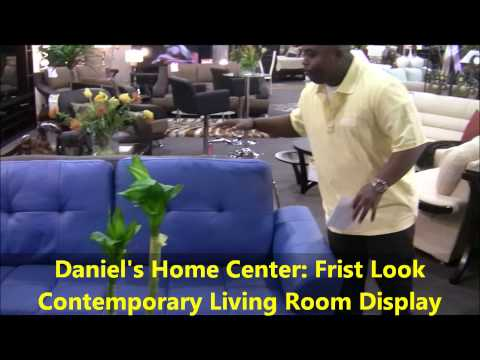 Daniel's Home Center First Look: Daniel's Contemporary Living Room Display