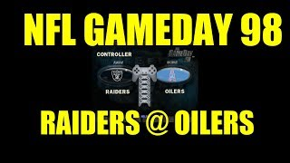 NFL Gameday 98 Oakland Raiders @ Tennessee Oilers Gameplay CPU vs CPU