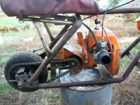 видео: Мопед из бензопилы(moped from chainsaw)