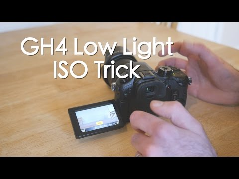 Panasonic Lumix GH4 Low light ISO trick that you may not know about