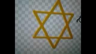 How to draw the star of david (jewish star)
