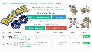 Pokémon GO Regionais + Sorteio Cartões R$50 Resultado + Ingressos