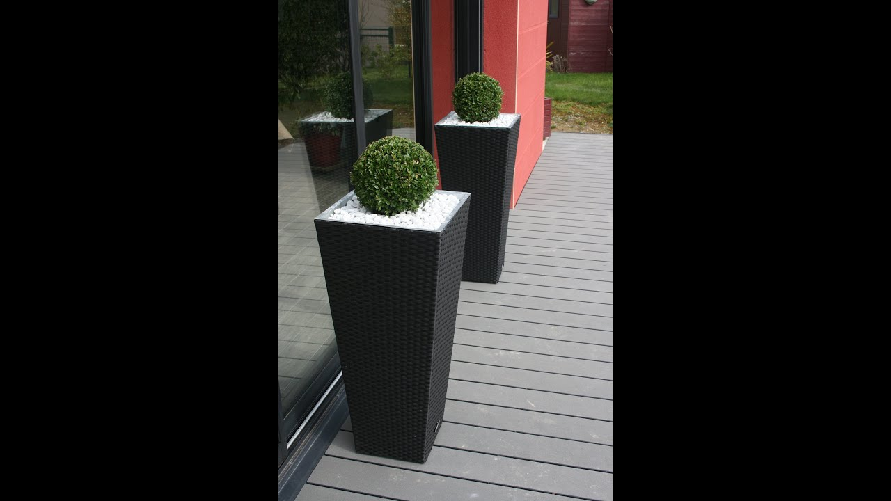 Travertin Blanc Terrasse Bois Composite Gris Anthracite, Travertin De