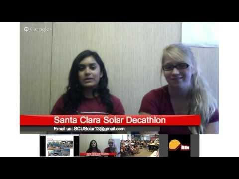SCU Solar Decathlon Chat #6 with Plaza Vista