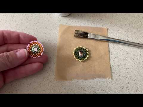 How to Stiffen Beadwork with ProtectaClear