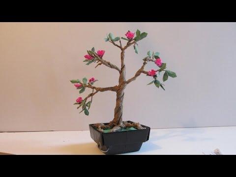Make an origami bonsai tree