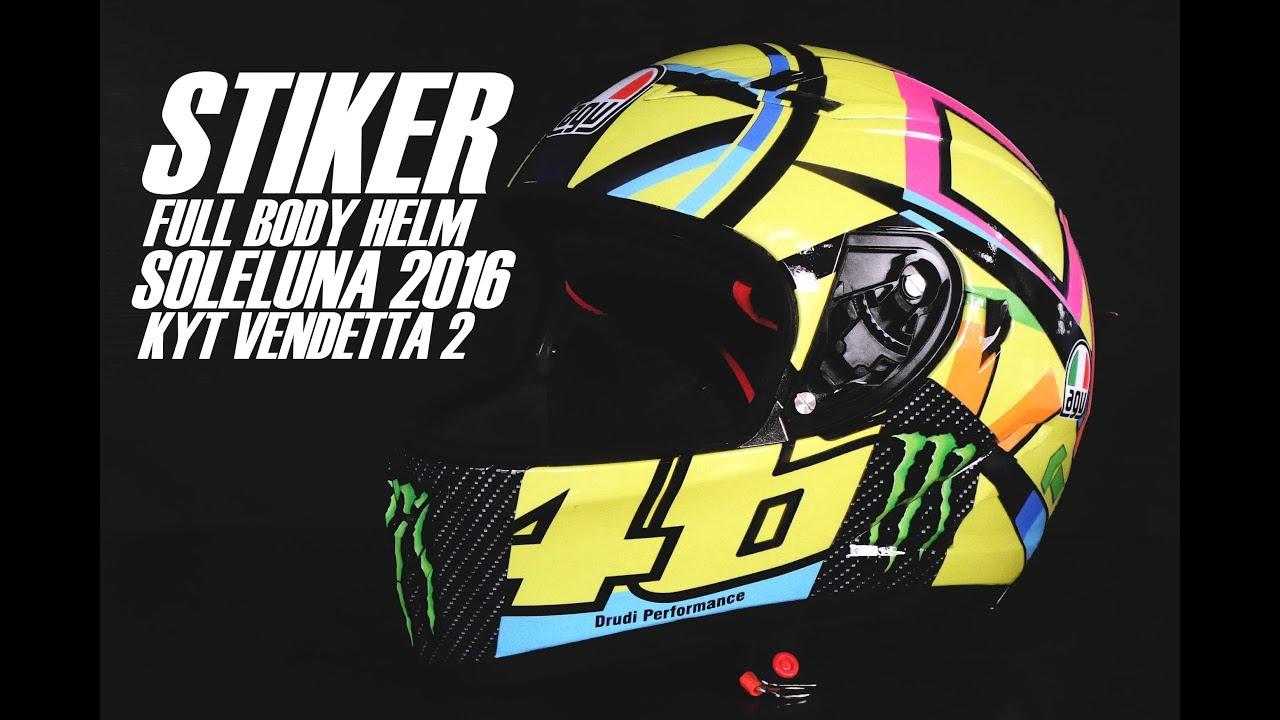 Stiker full helm soleluna 2016 di kyt vendetta 2