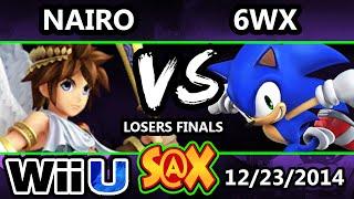 s x 6wx sonic vs nairo pit ssb4 losers finals smash 4 wii u