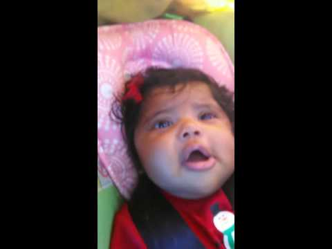 3 Month Old Baby Girl Saying I Love You Youtube
